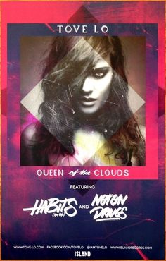 TOVE LO Queen Of The Clouds 2014 Ltd Ed New RARE Poster +FREE Indie Pop Poster