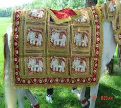 Saddle Blanket For Grooms Horse In Indian Wedding Parade