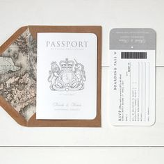 'Around The World' Passport Booklet Wedding Invitation - wedding stationery