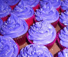 CupCake FabuLous Deep Purple Butter Cream CupCakes #cupcakefabulous #happybirthday