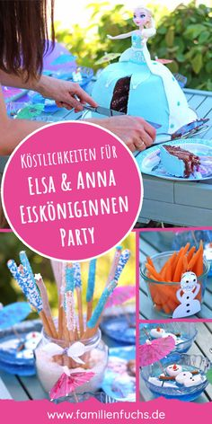 Für unsere Tochter feierten wir eine Eiskönigin-Mottoparty mit Elsa, Anna und Olaf. Es gab bunte Grissini zum Essen. Außerdem eine super leckere Elsa-Torte, Olafs Nasen (Möhren) und Wackelpudding mit Marshmallow-Olafs. Das schöne an dem Kuchen ist, dass er gleichzeitig eine Puppe beinhaltet mit der nach dem Essen gespielt werden kann. #elsa #geburtstagsparty #eiskönigin #essen