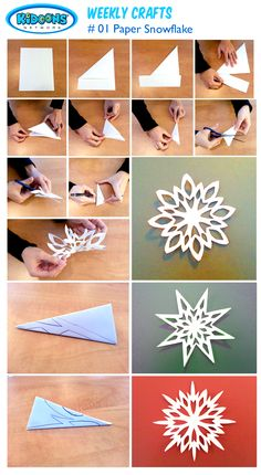 Fun for kids: creating paper snowflakes! \