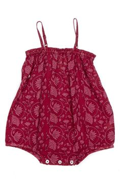 Peek 'Riviera' Woven Cotton Romper (Baby Girls)