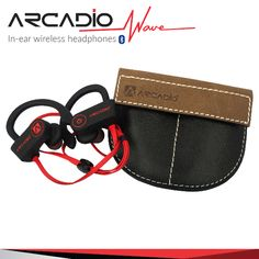 Enjoy your favourite music with ARCADIO's noise cancelling over-ear headbands and on-ear waterproof headphones with extra bass, bluetooth and wireless functionality. Waterproof Headphones, Waves, Ear Headbands, Wireless Headphones, Corporate Gifts, Eyewear, Hi Fashion, Sound Design, Belt