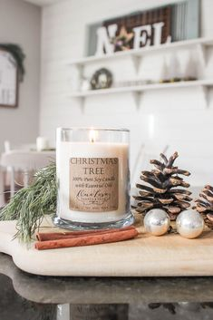 A blue, silver, and gold farmhouse-styled Christmas home tour #christmasfarmhouse #christmasdecorations