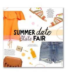 """""""State Fair: Summer date!"""" by lauren-a-j-reid ❤ liked on Polyvore featuring Alexander Wang, Elina Linardaki, Sole Society, Yves Saint Laurent and Folio"""