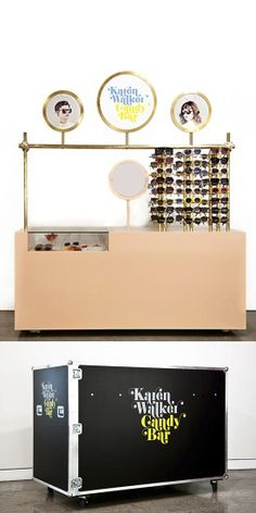 The portable Karen Walker Candy Bar is a pop-up concept that enables fashion label Karen Walker to take an exclusive range of products directly to customers in new locations. #popup #shop #design