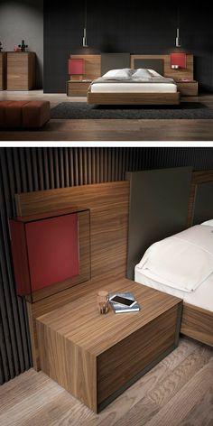 Wardrobe Design Bedroom, Bedroom Bed Design, Modern Bedroom Design, Bedroom Decor, Modern Bedroom Furniture, Bed Furniture, Latest Wooden Bed Designs, Wood Bed Design, Bedroom Layouts