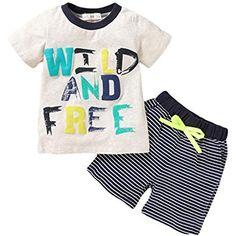 Allence Babykleidung Kinder Kleinkind M/ädchen Sommer Baby Bekleidungssets T-Shirt Kleidung Top Hosen Set Outfits Kleidung Set Stirnband Trainingsanzug Kleidung