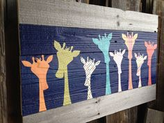 Hey, I found this really awesome Etsy listing at https://www.etsy.com/listing/245593738/kids-giraffe-wooden-wall-art-medium