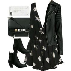 Discovered by Denisse León. Find images and videos on We Heart It - the app to get lost in what you love. Edgy Outfits, Night Outfits, Fall Outfits, Fashion Outfits, Womens Fashion, Mode Rockabilly, Looks Teen, Looks Black, Looks Chic