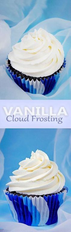 A light as a cloud hybrid whipped cream-cream cheese f… Perfect vanilla frosting. A light as a cloud hybrid whipped cream-cream cheese frosting. This just may be the best frosting you will ever taste. Cloud Frosting, Icing Frosting, Frosting Tips, Whipped Buttercream Frosting, Cream Cheese Buttercream, Whip Cream Icing, Frosting For Piping, Vanilla Icing For Cupcakes, Cream Filling For Cupcakes
