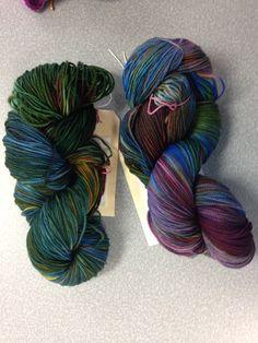 University Drive 2 ply sock yarn October 2014 OOAK - Elven magic & Underhill