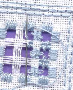 Hardanger embroidery tutorial, drawn thread, Kloster, crosstitch