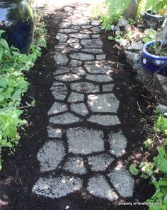 Building a Cobblestone Path With Moss