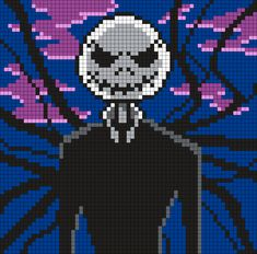 Jack Skellington As Slenderman Perler Bead Pattern