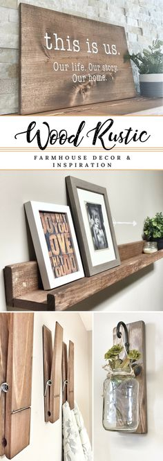 Gorgeous farmhouse decor!!! Love this shop on Etsy, so many beautiful, handmade pieces. #farmhousedecor #rusticdecor #walldecor #wallgallery #afflink