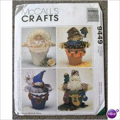 McCalls Crafts Pattern Uncut Flower Pot People #9449 023795944915 on eBid United States