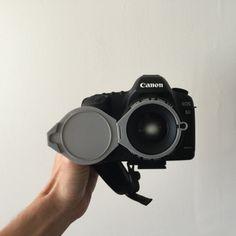 3D Flip Lens Cap, CWandT #3D #3Dprint #3Dprinting [more pics on Cults website]