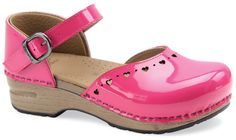 I'd prefer the sole to be black, or a darker pink, but now I really want hot pink shoes.