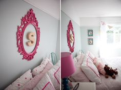 Super cute idea for a kids room!