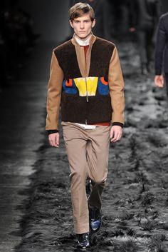 Fendi Fall / Winter 2014 - Man in Sheepskin Shearling Jacket