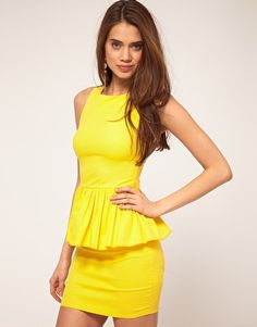 A spring dress with a little va-va-voom