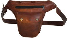 Gusti leather 'Don' genuine leather bum bag