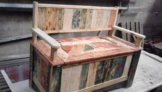 2013 07 23 Pallet storage bench in pallet furniture pallet outdoor project with storage pallet Bench Wooden Pallet Crafts, Diy Pallet Projects, Wooden Pallets, Wooden Diy, Wood Crafts, Wood Projects, Woodworking Projects, Pallet Wood, Pallet Ideas