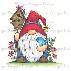 Best Indoor Garden Ideas for 2020 - Modern Holiday Crafts, Fun Crafts, Rock Crafts, Gnome Paint, Bird Houses Painted, Happy Paintings, Christmas Gnome, Chalk Art, Whimsical Art