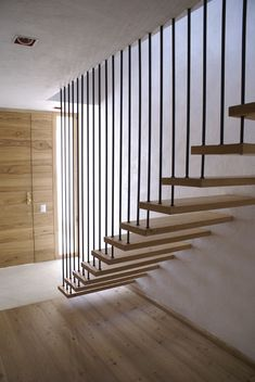40 top 10 unique modern staircase design ideas for your dream house 25 Timber Staircase, Staircase Railings, Wood Stairs, House Stairs, Stairways, Spiral Staircases, Staircase Ideas, Painted Stairs, Stair Railing Design