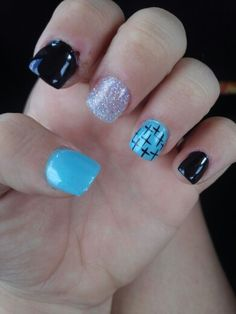 Acrylic Nails with crosses