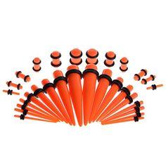 Yantu 30pcs Orange Taper Kit with Plugs Double O-rings 14G-00G Stretching Kit YANTU http://www.amazon.com/dp/B00NW6EUVY/ref=cm_sw_r_pi_dp_sJhnvb02K2P0H
