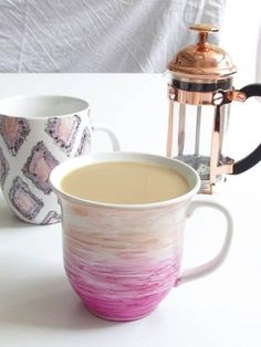 easy watercolor sharpie mugs that actually last, crafts, how to