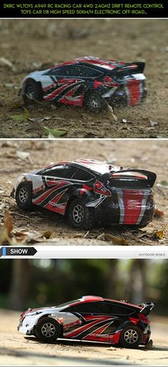 DKRC Wltoys A949 RC Racing Car 4WD 2.4GHz Drift Remote Control Toys Car 1:18 High Speed 50km/h Electronic Off-road Car With USA Flag - Red #gadgets #technology #fpv #shopping #car #products #wltoys #camera #kit #tech #racing #drone #plans #parts #drift