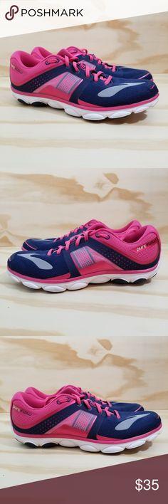 3650f017769 Brooks PUREFLOW Running Shoes Brooks PureFlow 4 Women s Running Shoes sz 12  Pink Blue White (