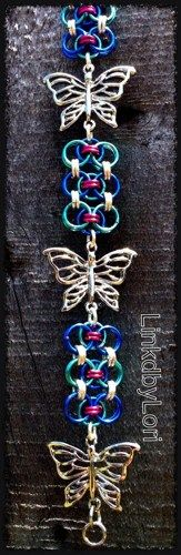 Summer Butterflies Bracelet!! | Linkdbylori - Jewelry on ArtFire