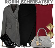 Inspired by Cobie Smulders as Robin Scherbatsky on How I Met Your Mother.