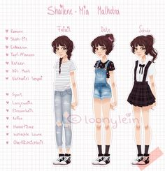 Character Sheet for my Candy     With several outfits    Her father is indian, thats why she got that name (:Her sister is @kalisixs candy and her best friend is @llamakoernchens candy