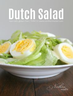 This incredibly simple Dutch Salad is a frugal side for savory THM S dishes where you don't want a lot of competing flavor.
