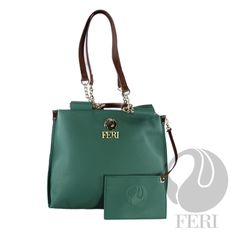 FERI ATOOSA Average Rating: / 5 DESCRIPTION Part of the Day to Day Collection - Bicast leather - Green colour - 3 diffferent length handles, hand, elbow and shoulder - Smooth pattern - Multiple compartments - Fabric lining - Coin wallet - Dimensions: x Coin Wallet, Hollywood Celebrities, Green Colors, Handbags, Gallery, Womens Fashion, Leather, Designer Purses, Collection