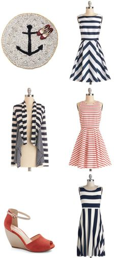 """Anchor Your Style"" with these adorable looks #ModCloth #ad *Love"