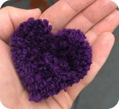 zakka life: Craft Project: Heart Shaped Pom Pom