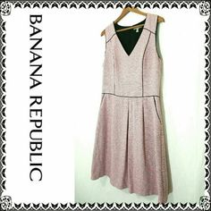Neon pink banana republic dress 12 Gorgeous banana republic dress. Colors are neon pink, black and white.  Size 12 tall.  Bust is approximately 40 inches. Waist is 33 inches. Length is 41 inches.  Very good condition. Smoke free home Banana Republic Dresses
