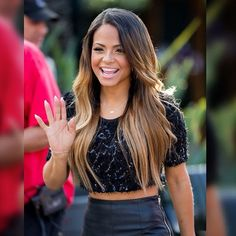 - Christina Milian - Black Leather Pants On The 'Extra' Set in Universal City - 12 of 38 Christina Milian, Ombré Hair, Hair Dos, Summer Hairstyles, Pretty Hairstyles, Black And Blonde Ombre, Look Kim Kardashian, Balayage Straight Hair, Chic Short Hair