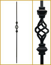 """16.1.37 Iron Baluster  1/2"""" Square x 44"""" Tall available at  http://www.stairsupplies.com"""