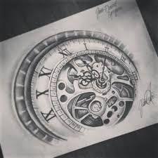 Bildergebnis für clock rose tattoo