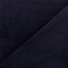 Tissu sweat envers minkee marine x 10cm - 22,50 €/m -  Ma Petite Mercerie