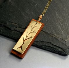 #etsy jewelry, tree necklace, handmade!