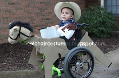 Wheelchair Costumes: Cowboy on his horse wheelchair costume
